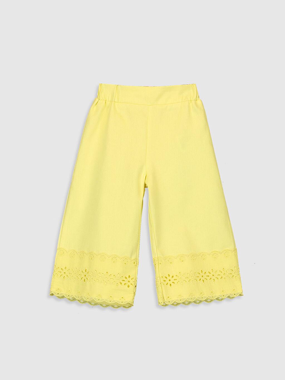 Sarı Kız Bebek Pantolon 0SV645Z1 LC Waikiki