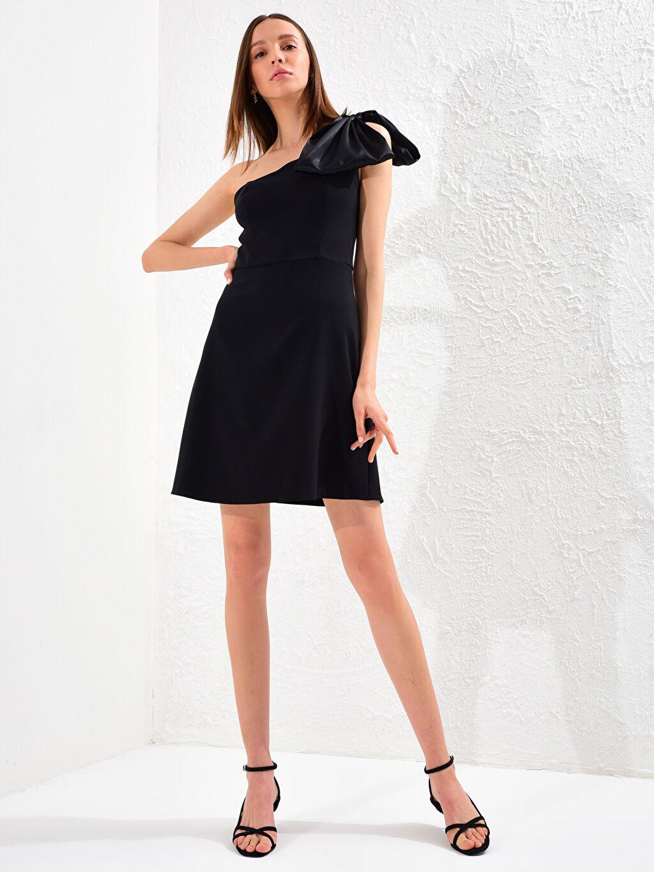 0SV761Z8 Appleline Tek Omuz Detaylı Elbise