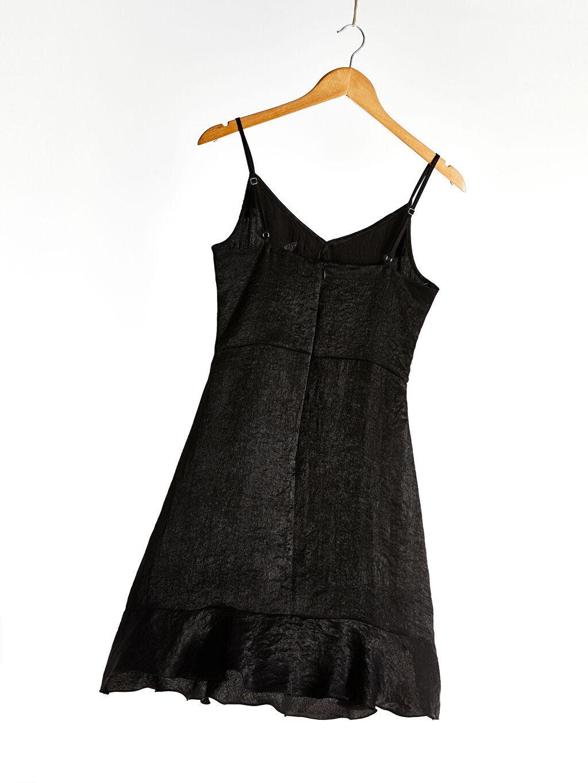 Kadın Askılı Fırfır Detaylı Elbise