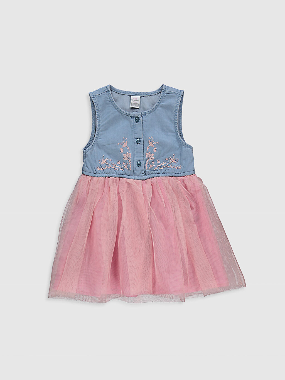 İndigo Kız Bebek Tül Etekli Elbise 0SY116Z1 LC Waikiki