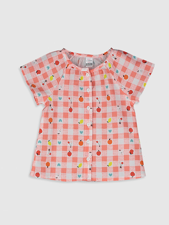 Pembe Kız Bebek Baskılı Pamuklu Gömlek 0SY169Z1 LC Waikiki