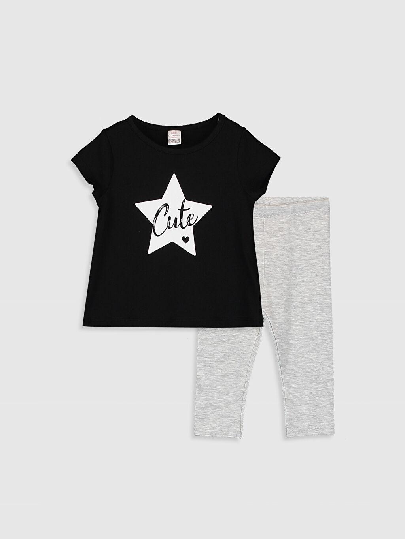Siyah Kız Bebek Tişört Ve Tayt 0SY240Z1 LC Waikiki
