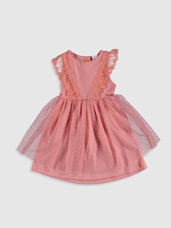 Mercan Kız Bebek Tül Etekli Elbise 0SY576Z1 LC Waikiki