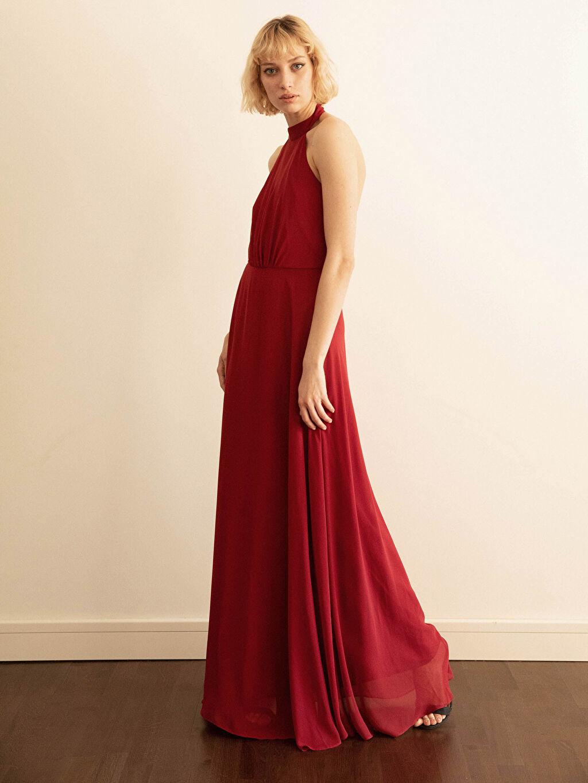 Kadın Appleline Halter Yaka Abiye Elbise