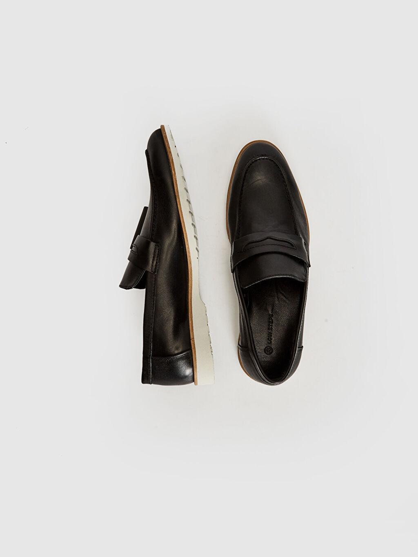 Penye Astar Standart Günlük Bağcıksız Klasik Ayakkabı Deri Hafif Deri Erkek Hakiki Deri Loafer Ayakkabı