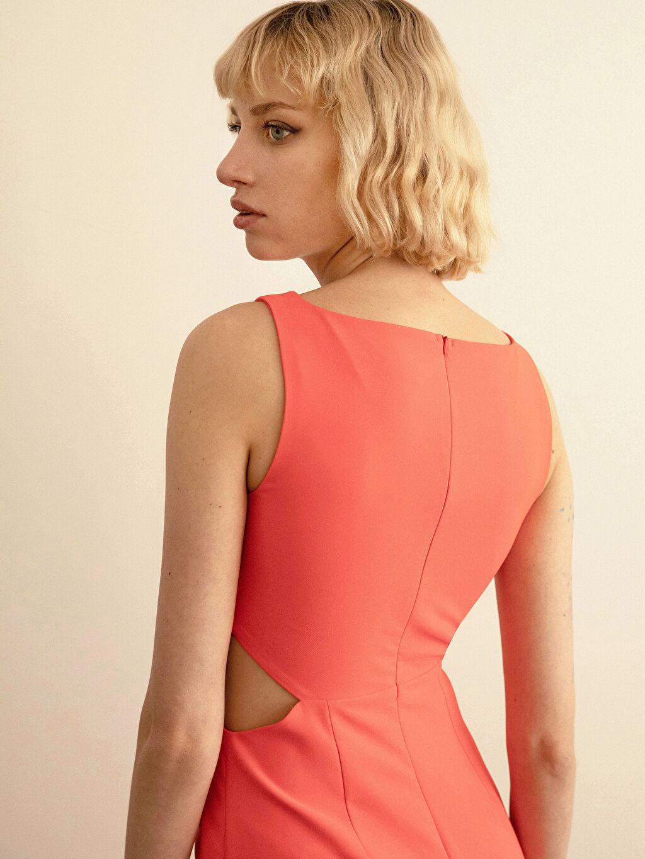 0SAA74Z8 Appleline Bel Detaylı Esnek Abiye Elbise
