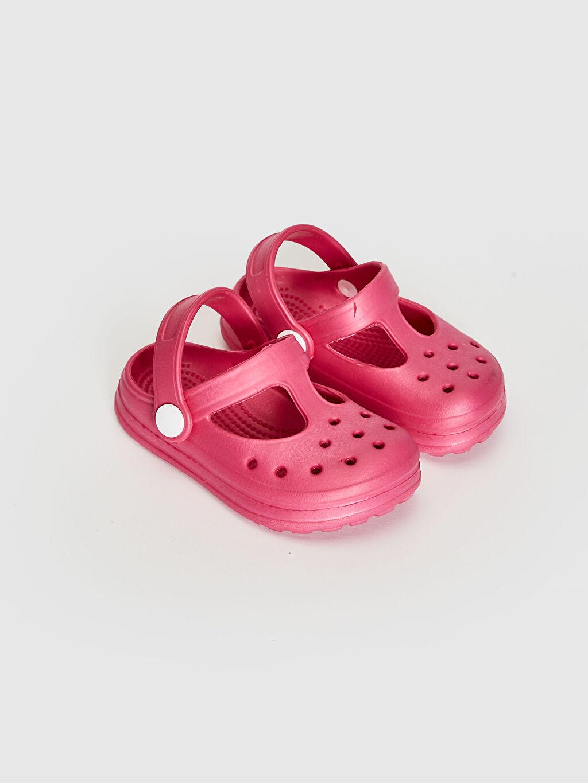 %0 Diğer malzeme (eva) EVA Astar Işıksız Sandalet Tokalı Kız Bebek Sandalet