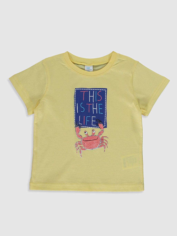 Erkek Bebek Erkek Bebek Baskılı Tişört ve Şort