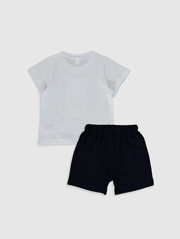 %95 Pamuk %5 Elastan %100 Pamuk %100 Pamuk Aksesuarsız Standart İnce Günlük Düz Takım Kısa Kol Süprem Erkek Bebek Baskılı Tişört ve Şort