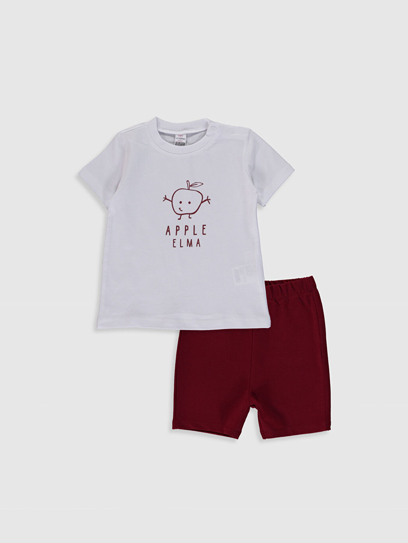 Beyaz Erkek Bebek Tişört ve Şort 0SAD52Z1 LC Waikiki