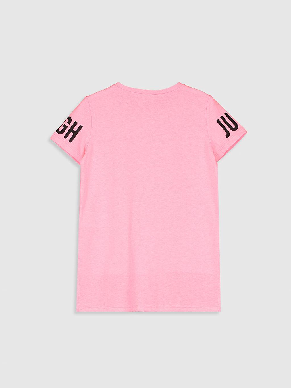 %52 Pamuk %48 Polyester Standart Baskılı Tişört Bisiklet Yaka Kısa Kol Süprem Kız Çocuk Baskılı Tişört