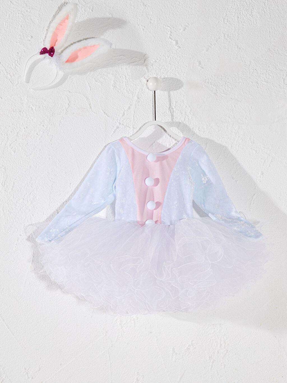 Beyaz Tameris Kız Bebek Elbise ve Taç 0SAH00Z1 LC Waikiki