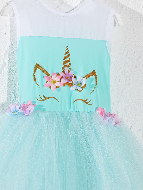 Kız Çocuk Tameris Kız Çocuk Unicorn Baskılı Kostüm