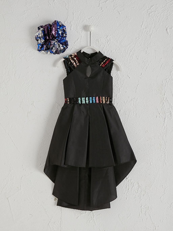 Siyah Daisy Girl Kız Çocuk Abiye Elbise 0SAI63Z4 LC Waikiki