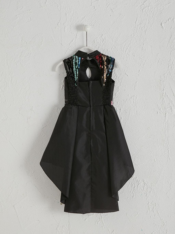 Elbise Kolsuz Halter Yaka Daisy Girl Kız Çocuk Abiye Elbise