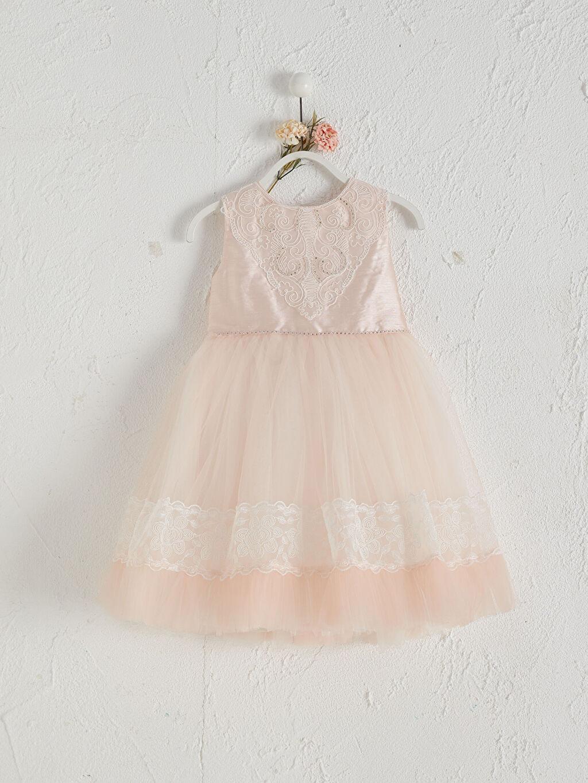 Sarı Daisy Girl Kız Bebek Desenli Abiye Elbise 0SAI87Z1 LC Waikiki