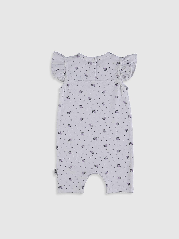 Antebies Organik Pamuklu Kız Bebek Desenli Tulum