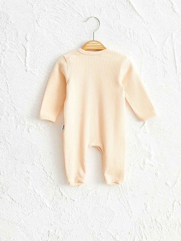Erkek Bebek Antebies Organik Pamuklu Erkek Bebek Patikli Tulum