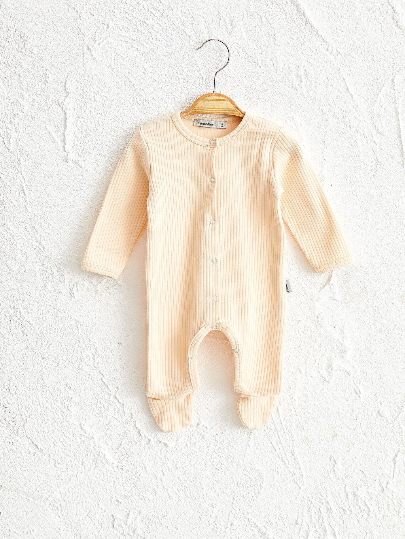Organik Pamuk Tulum Antebies Organik Pamuklu Erkek Bebek Patikli Tulum