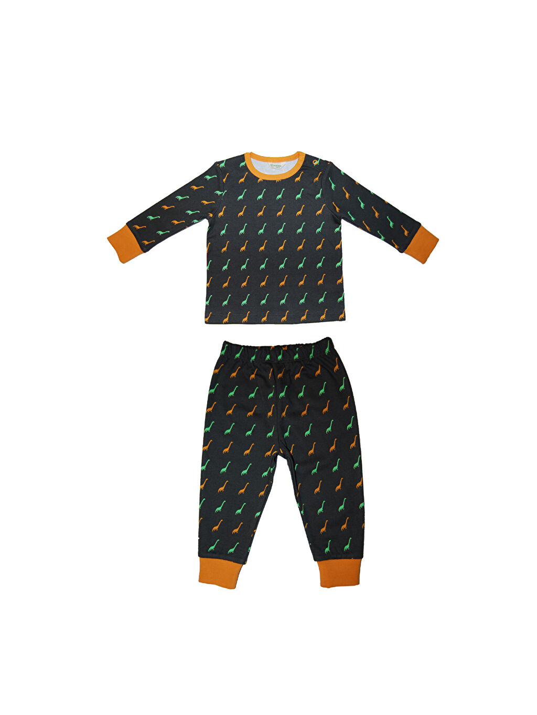Lacivert Organic Kid Organik Pamuklu Baskılı Pijama Takımı 0SAP33Z1 LC Waikiki