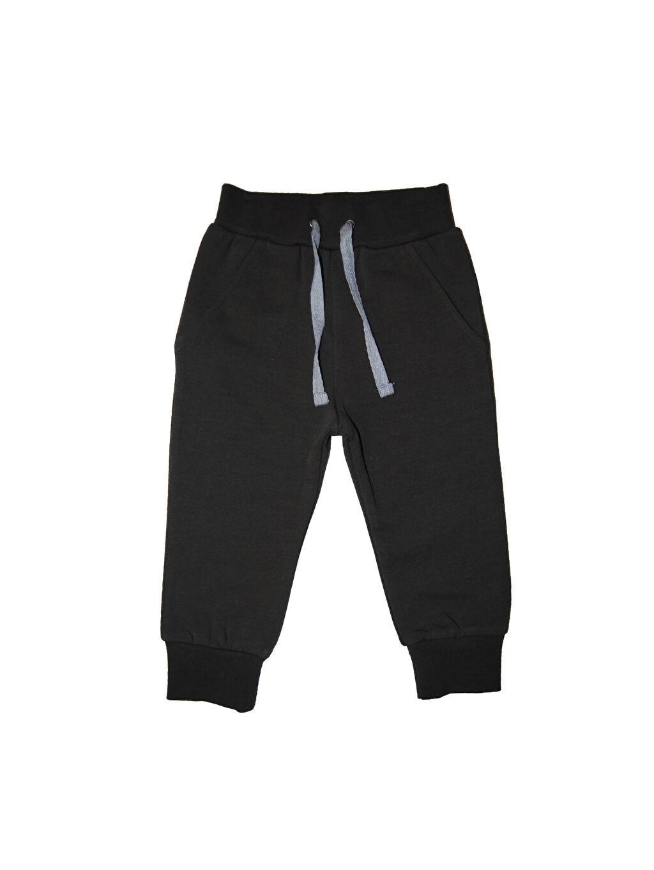 Siyah Organic Kid Organik Pamuklu Jogger Pantolon 0SAP98Z1 LC Waikiki