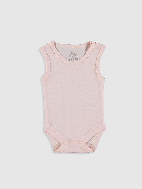 0SAQ10Z1 Luggi Baby Kız Bebek Çıtçıtlı Body 5'li