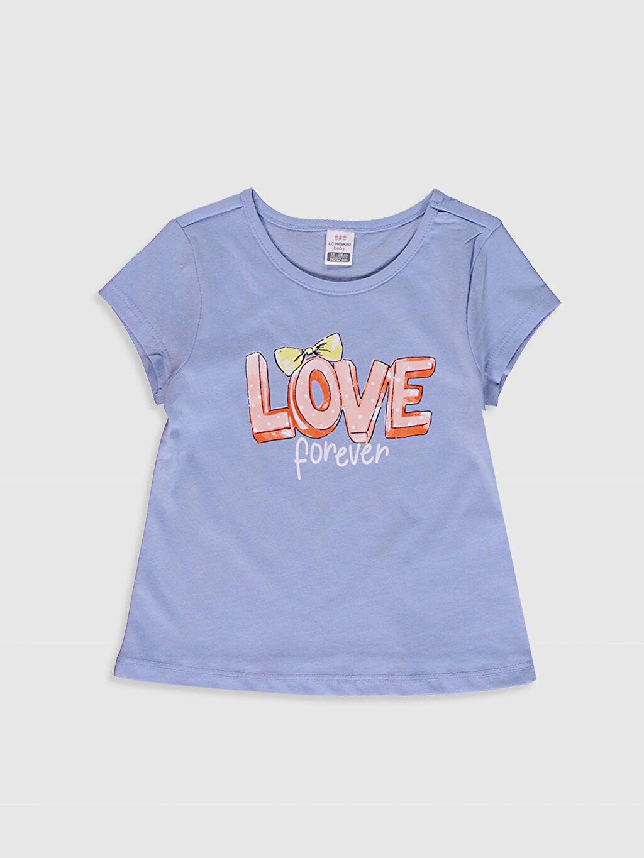 Kız Bebek Baskılı Pamuklu Tişört 2'Li
