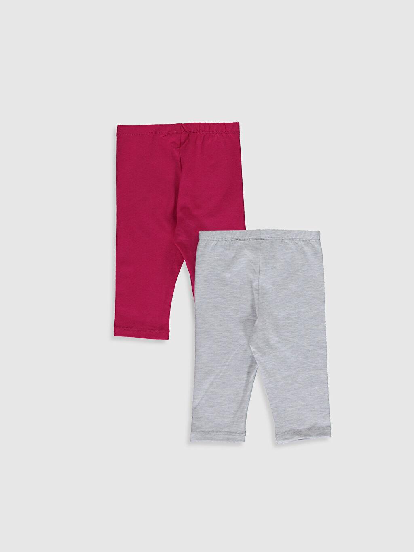 %98 Pamuk %2 Polyester Süprem Tayt Baskılı Kız Bebek 3/4 Boy Tayt