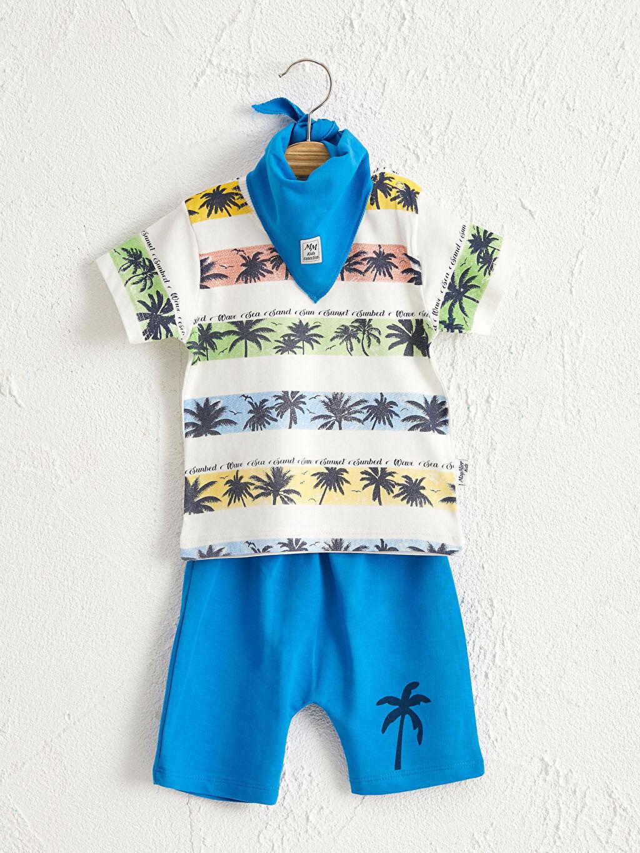 Mavi By Leyal For Kids Yenidoğan Pamuklu Takım 3'lü 0SAR08Z1 LC Waikiki