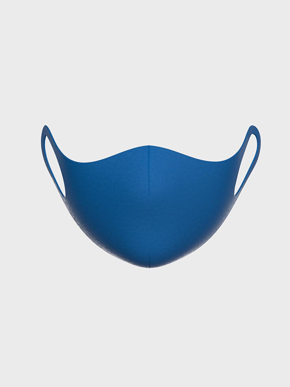 %91 Polyester %9 Elastan 8-14 Yaş Erkek Çocuk Yıkanabilir Yüz Maskesi 2'li