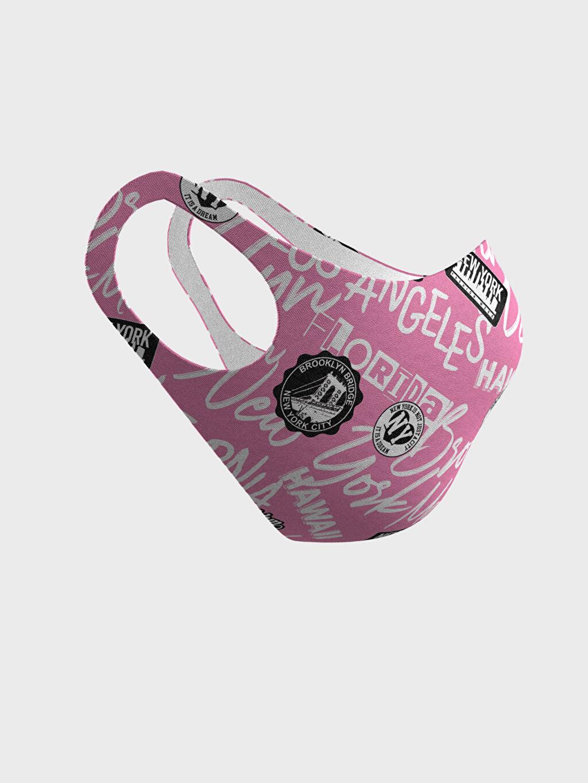 %91 Polyester %9 Elastan 8-14 Yaş Kız Çocuk Yıkanabilir Yüz Maskesi 2'Li