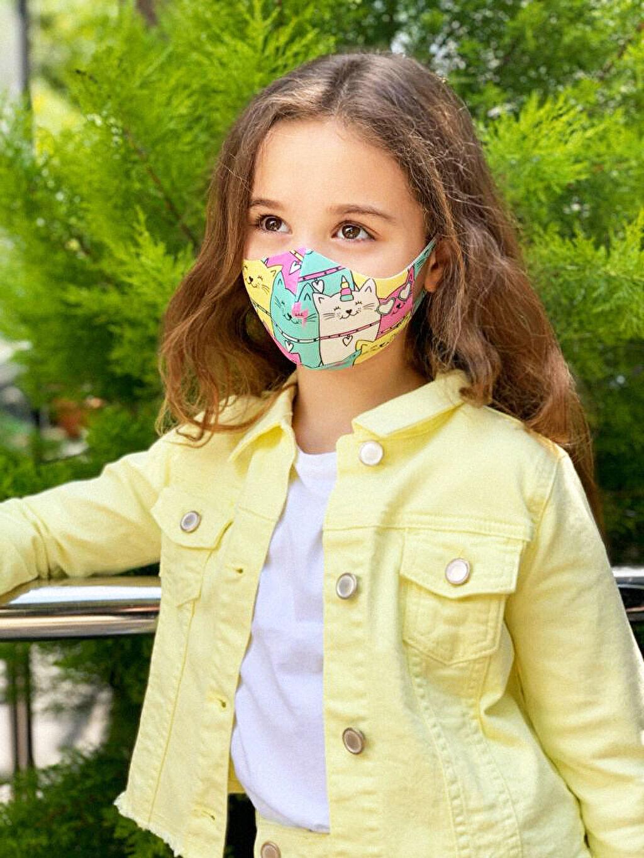 Kız Çocuk 8-14 Yaş Kız Çocuk Yıkanabilir Yüz Maskesi 2'Li