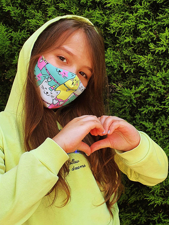 Çok Renkli 8-14 Yaş Kız Çocuk Yıkanabilir Yüz Maskesi 2'Li 0SAS33Z4 LC Waikiki