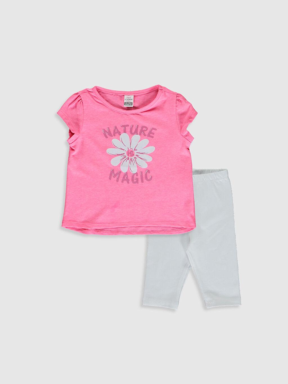 Pembe Kız Bebek Tişört Ve Tayt 0SAU66Z1 LC Waikiki