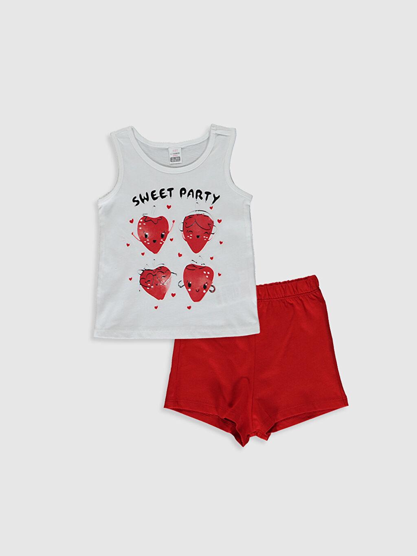 Beyaz Kız Bebek Atlet Ve Şort 0SAU68Z1 LC Waikiki