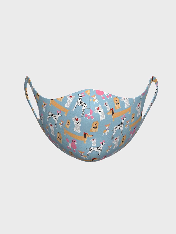 %91 Polyester %9 Elastan Dalgıç Kumaşı Maske 2-8 Yaş Kız Çocuk Yıkanabilir Yüz Maskesi