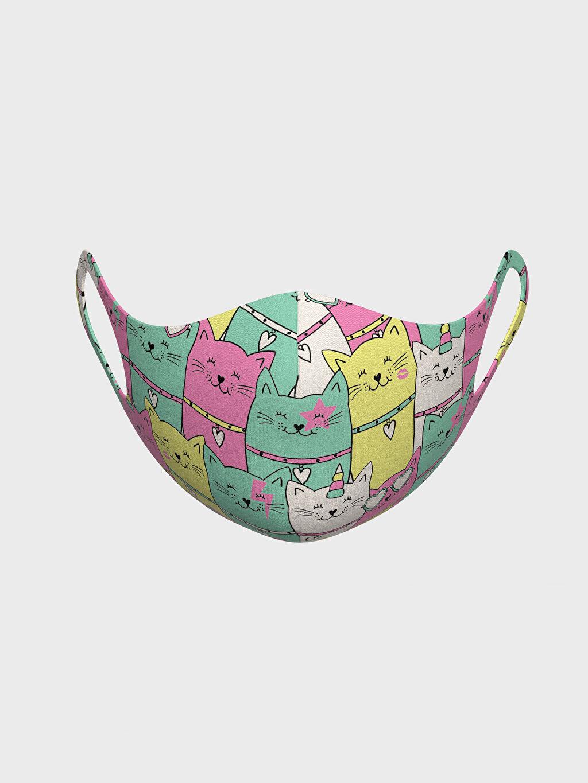 %91 Polyester %9 Elastan Baskılı Dalgıç Kumaşı Bakım Ürünleri 2-8 Yaş Kız Çocuk Yıkanabilir Yüz Maskesi