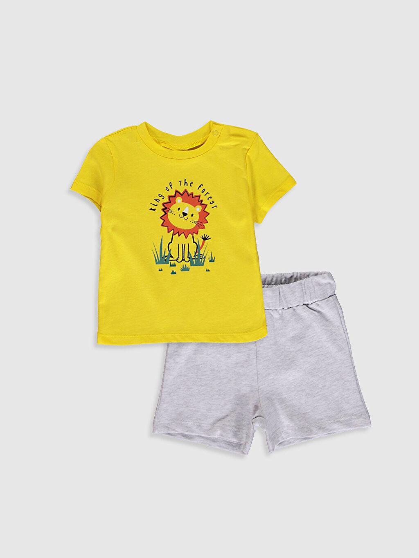 Sarı Erkek Bebek Baskılı Takım 2'Li 0SAV38Z1 LC Waikiki