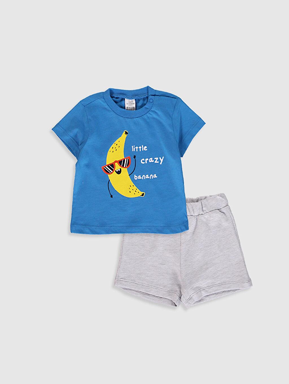 Mavi Erkek Bebek Takım 2'Li 0SAV41Z1 LC Waikiki