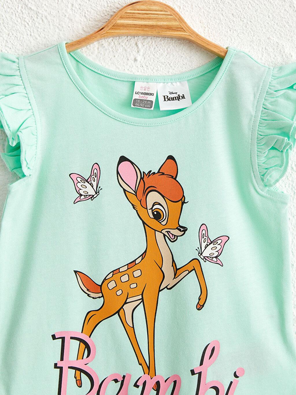 Kız Bebek Kız Bebek Bambi Desenli Tişört