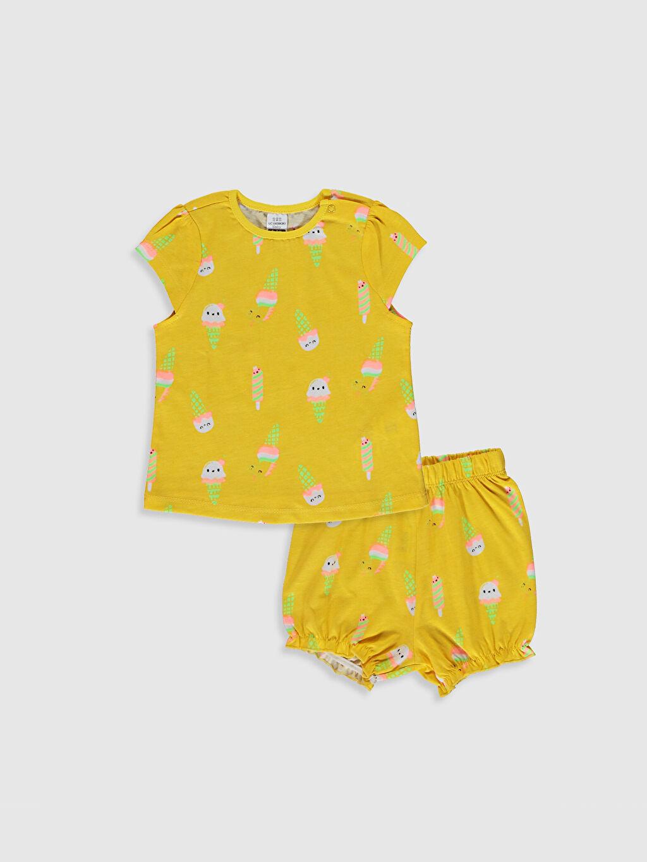 Sarı Kız Bebek Baskılı Pijama Takımı 0SAY19Z1 LC Waikiki