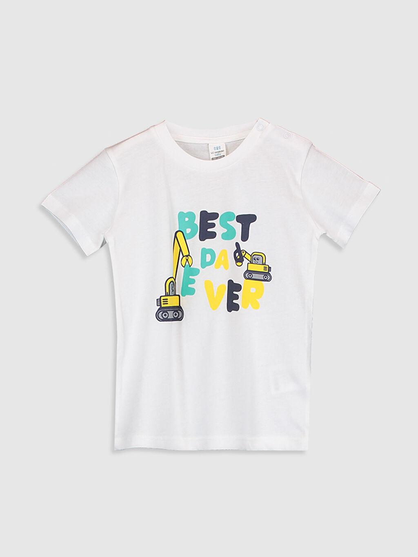 Beyaz Erkek Bebek Baskılı Tişört 0SAY84Z1 LC Waikiki