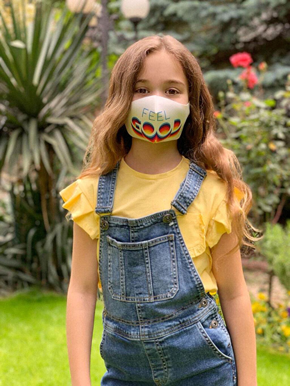 %95 Polyester %5 Elastan Standart Standart Dalgıç Kumaşı Maske 8-14 Yaş Kız Çocuk Yıkanabilir Yüz Maskesi