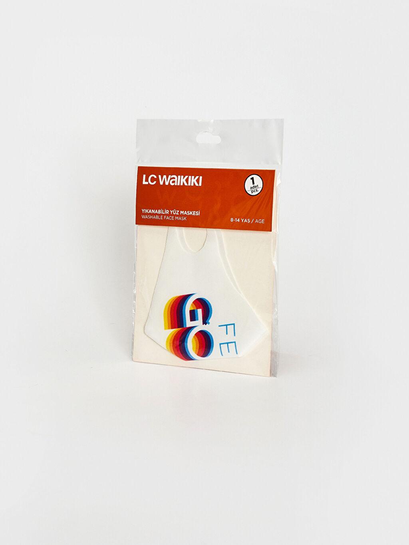 %95 Polyester %5 Elastan 8-14 Yaş Kız Çocuk Yıkanabilir Yüz Maskesi