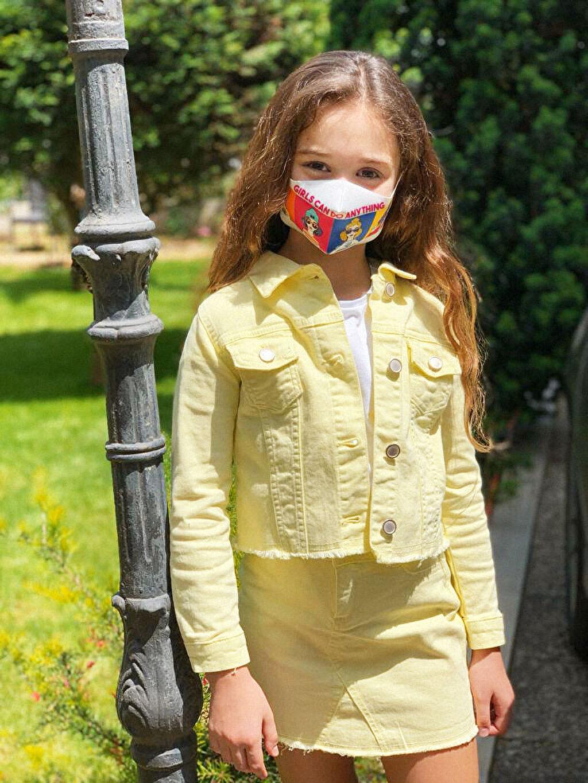 Çok Renkli 8-14 Yaş Kız Çocuk Yıkanabilir Yüz Maskesi 0SBA23Z4 LC Waikiki