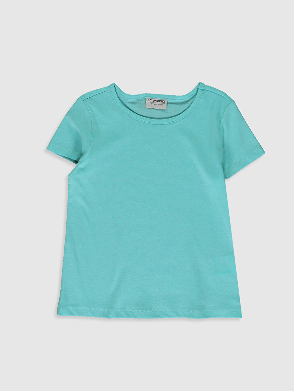 LC Waikiki Turkuaz Kız Çocuk Pamuklu Basic Tişört 3'Lü