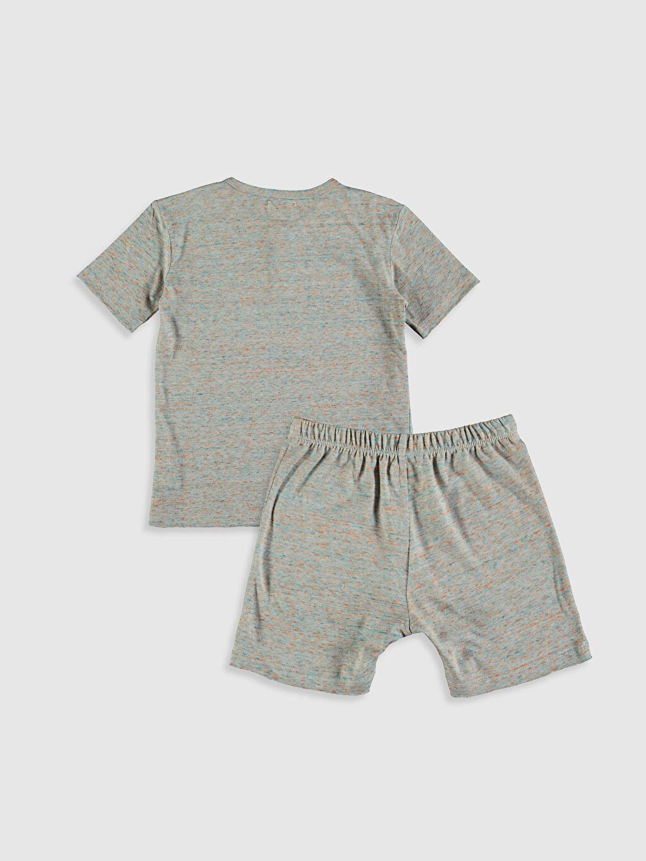 Organik Pamuk Pijama Takım Bisiklet Yaka Kısa Kol Antebies Organik Pamuklu Erkek Çocuk Pijama Takımı