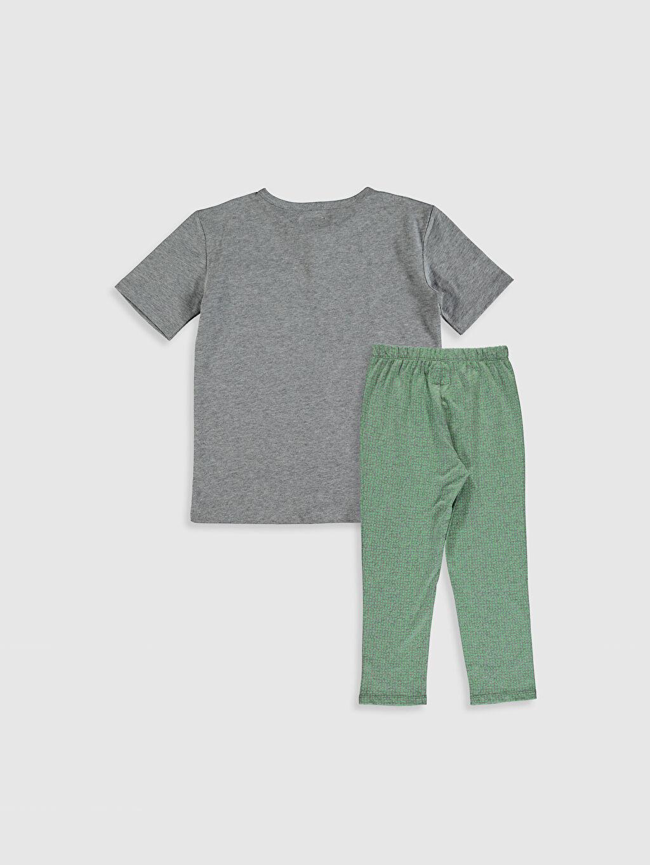 Pijama Takım Bisiklet Yaka Kısa Kol Organik Pamuk Antebies Organik Pamuklu Erkek Çocuk Pijama Takımı