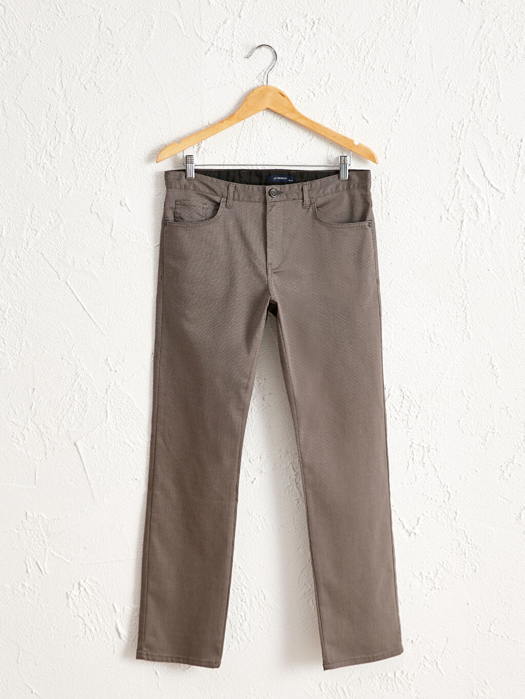 Bej Regular Fit Dokulu Pantolon 0W1201Z8 LC Waikiki
