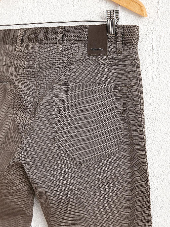 %68 Pamuk %28 Polyester %4 Elastan Aksesuarsız Standart Uzun Beş Cep Orta Kalınlık Pantolon Diğer Regular Fit Dokulu Pantolon